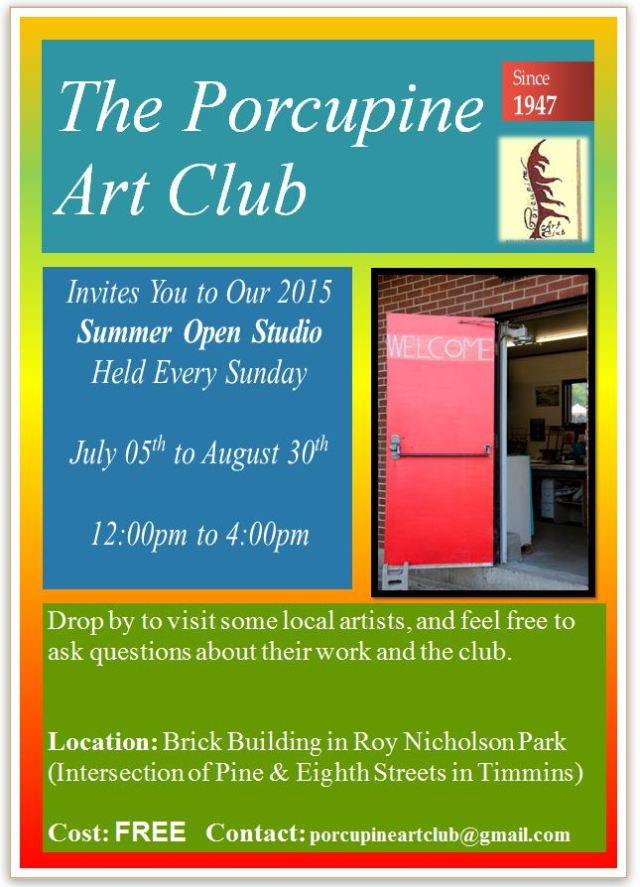 2015 Open Studio Poster