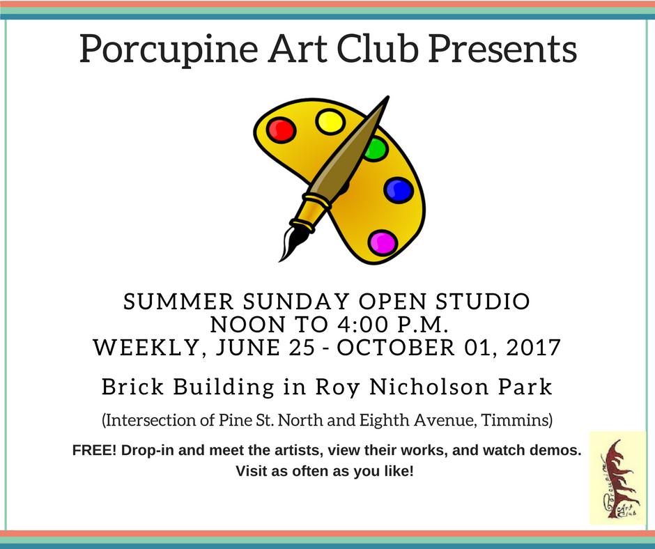 Summer Sunday Open StudioJuly 03 - August 28, 2016