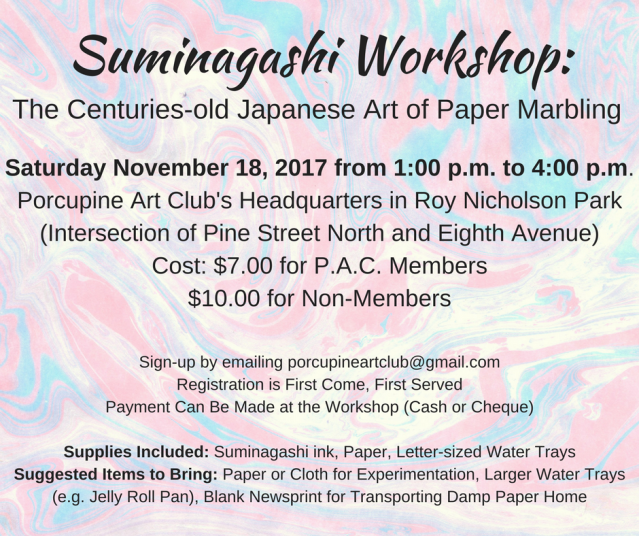 Suminagashi Workshop
