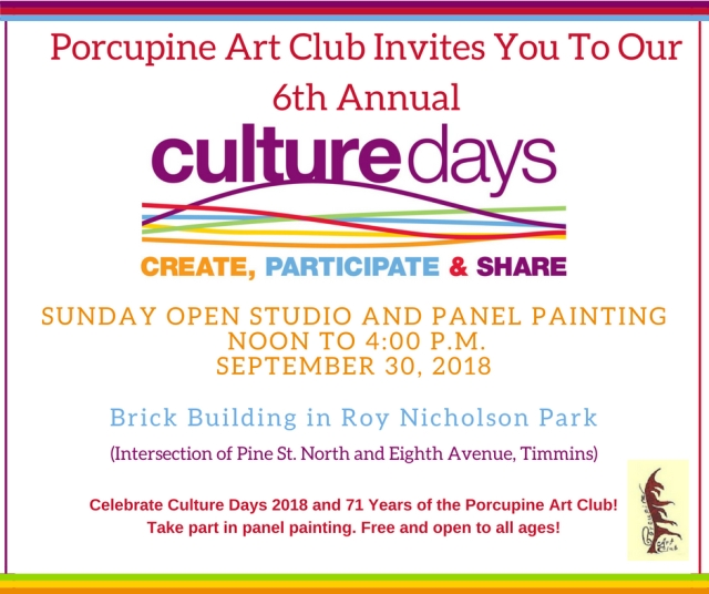Culture Days 2018 Open Studio
